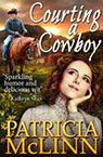 courting a cowboy western romance book by Patricia McLinn, romance author, mystery author, female sleuth
