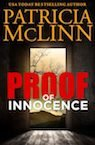 proof of innocence romantic mystery book by Patricia McLinn, romance author, mystery author, female sleuth