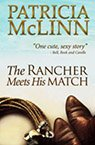 the rancher meets his match contemporary western romance book by Patricia McLinn, romance author, mystery author, female sleuth