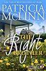 the right brother contemporary romance book by Patricia McLinn, romance author, mystery author, female sleuth
