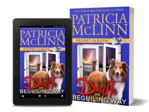 Death on Beguiling Way tablet paperback, Patricia McLinn author, Secret Sleuth series, cozy mystery, amateur sleuth