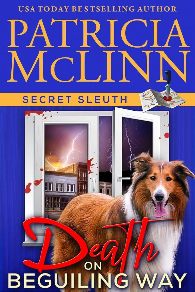 Secret Sleuth series, cozy mystery, Patricia McLinn, collie dog, amateur sleuth, women sleuths, small town mystery, American mystery, traditional mystery, police procedural, yoga instructor, murder mystery, ex-cop mystery