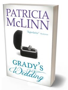 Grad's Wedding, print edition, paperback, The Wedding Series, romance collection, romance series, Patricia McLinn,, rich guy working girl