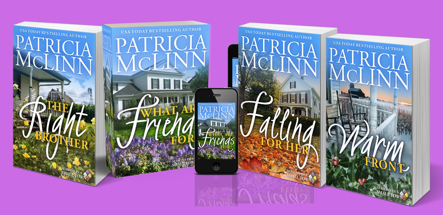 Patricia McLinn, small-town romance, romance series, contemporary romance series, books in print, paperback, women's fiction, romantic comedy